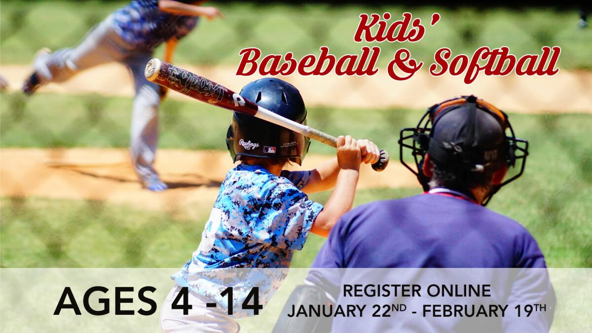 Kids' Spring Baseball/Softball Registration