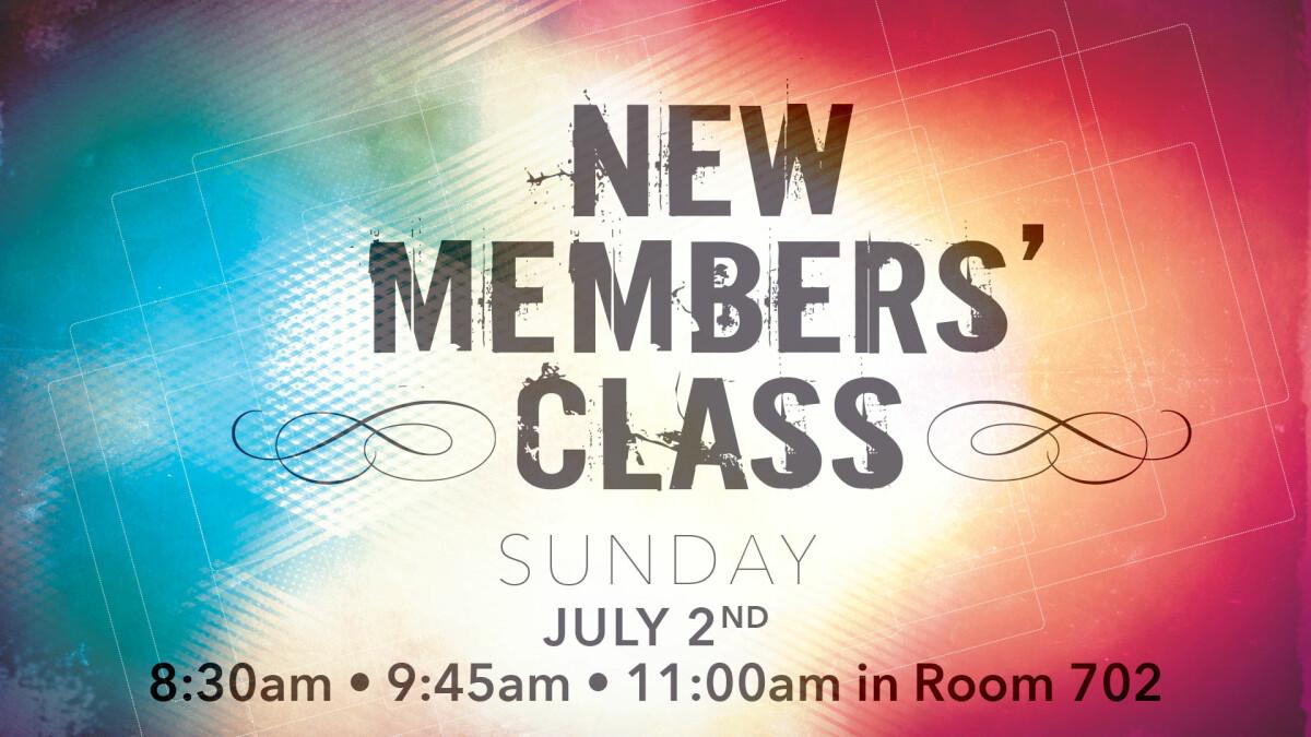 New Members' Class