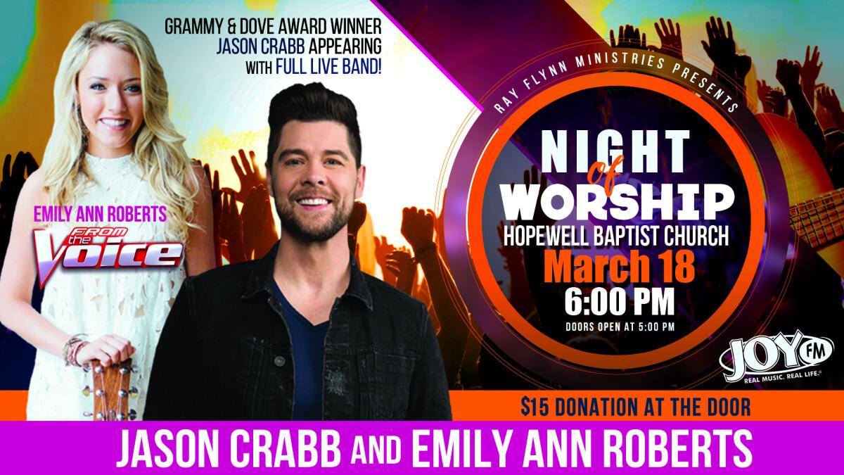 In Concert - Jason Crabb & Emily Ann Roberts