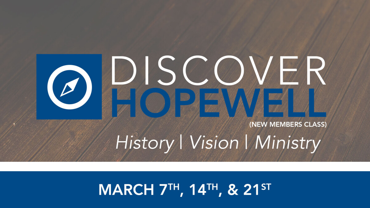 Discover Hopewell (New Members)