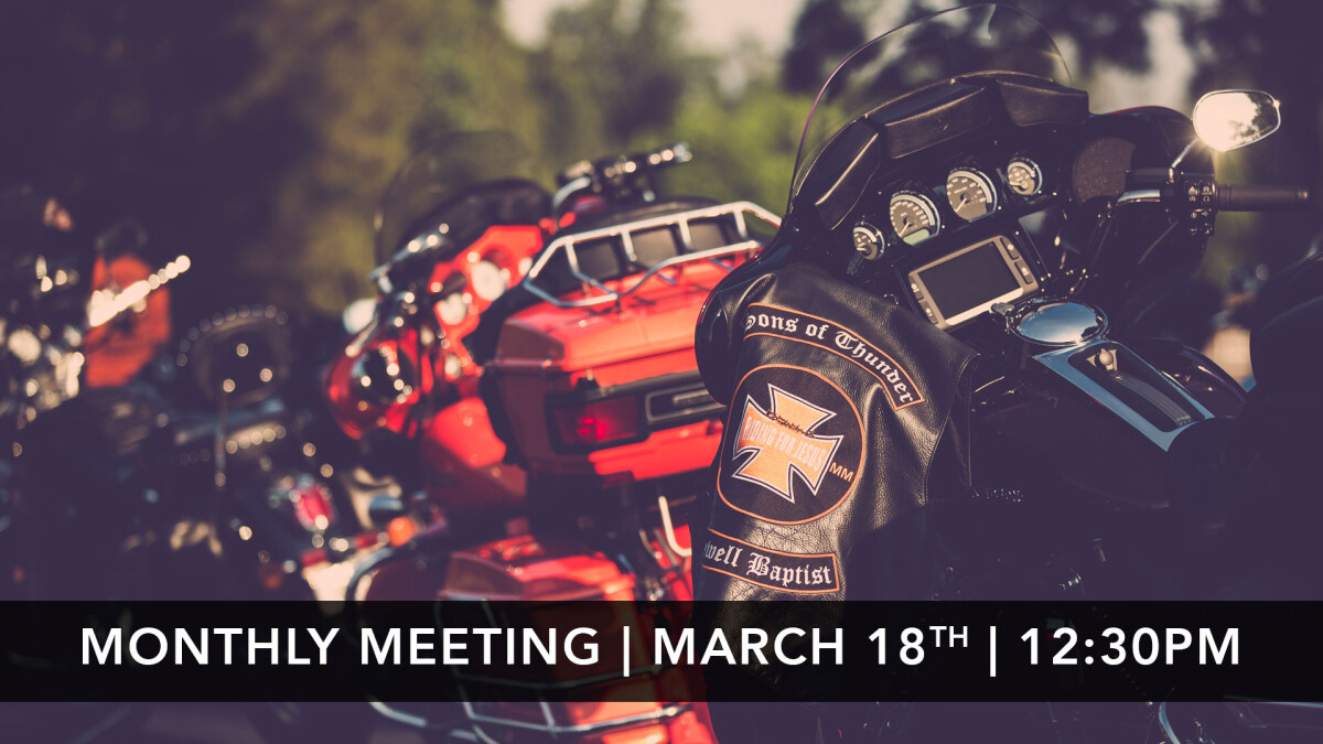 Sons of Thunder Monthly Meeting
