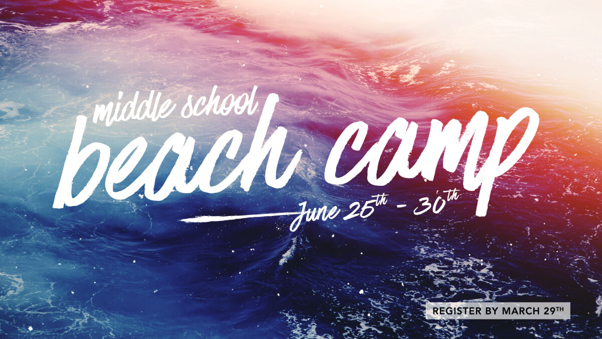 2018 Middle School Beach Camp