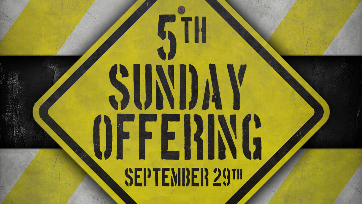 Fifth Sunday Offering