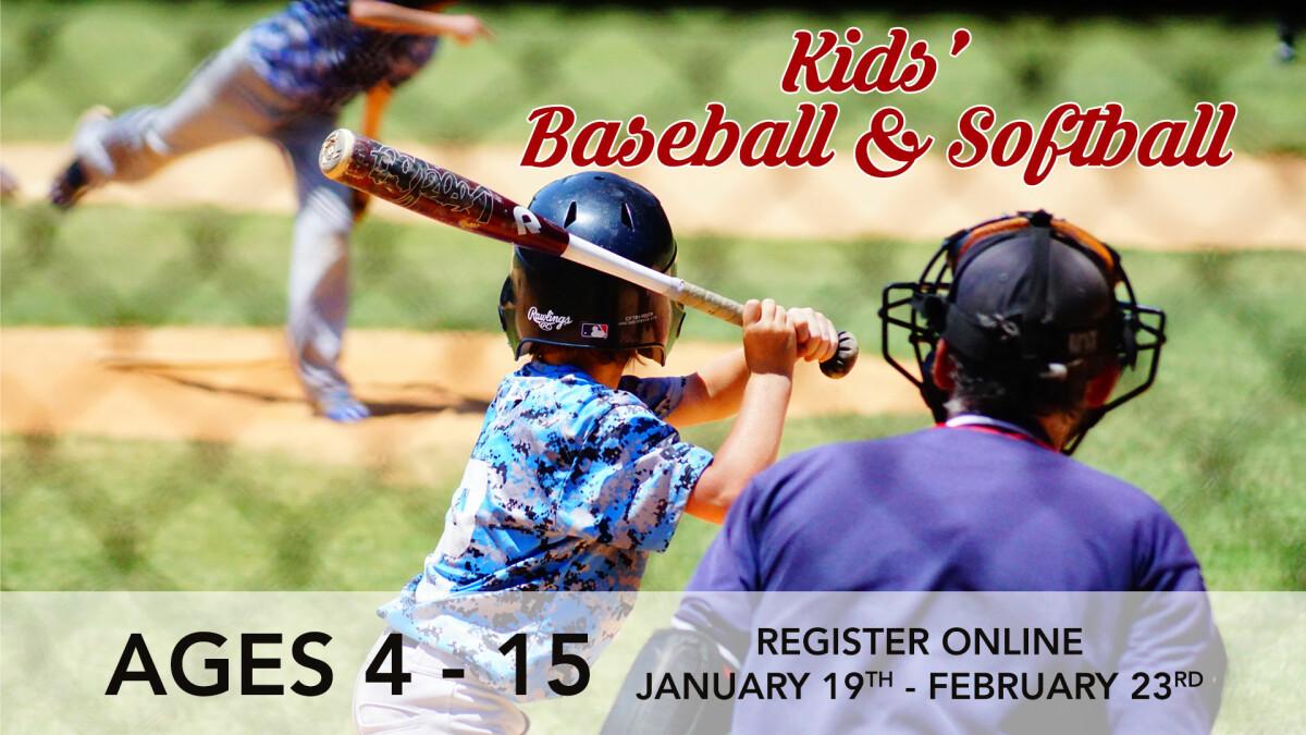Kids' Baseball/Softball Registration