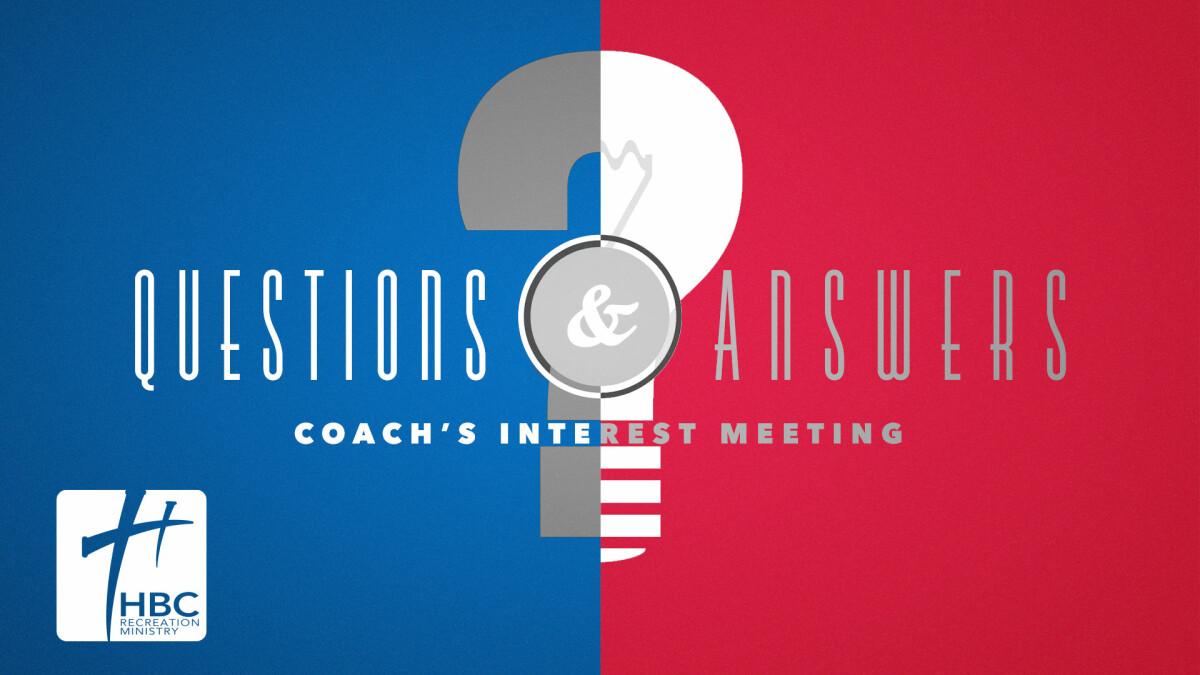 Coach's Q&A Session